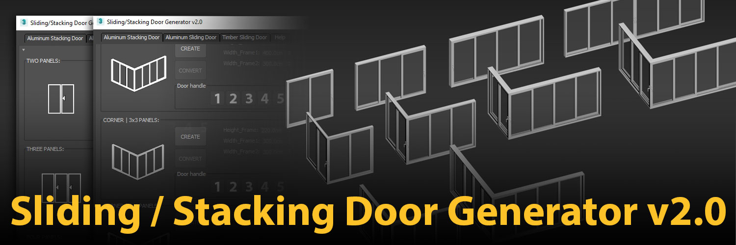 1500×500 | Sliding Stacking Door Generator v2.0